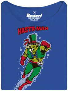 Hastr-man - superhrdina z českých rybníků - modré pánské tričko