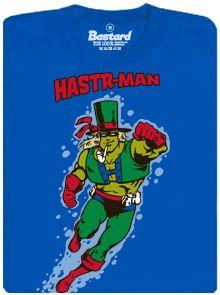 Superhrdina Hastrman - modré pánské tričko