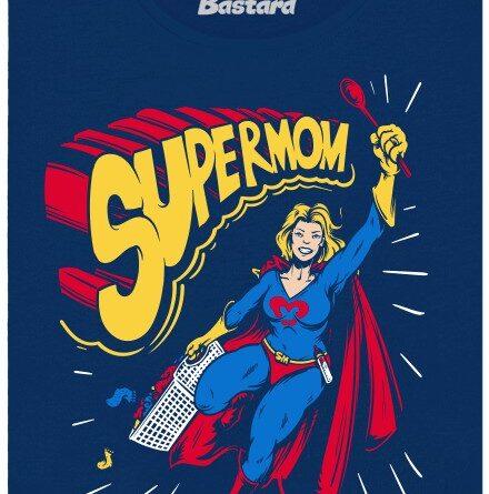 Supermom - modré dámské tričko