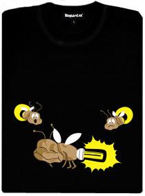 Světluška s úspornou zářivkou - dámské tričko s potiskem