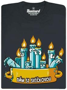 Svíčková z pravých svíček - šedé pánské tričko