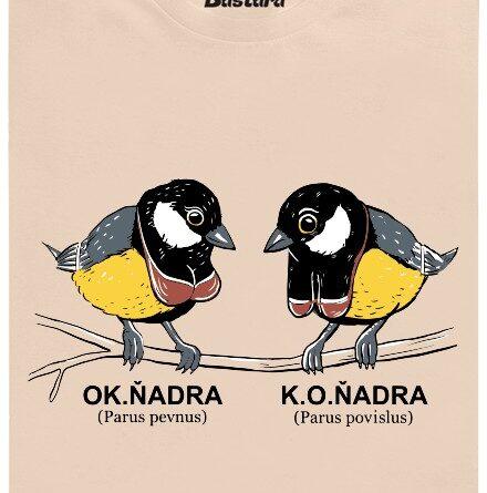 Sýkorka OK.ňadra, K.O.ňadra - hnědé pánské tričko