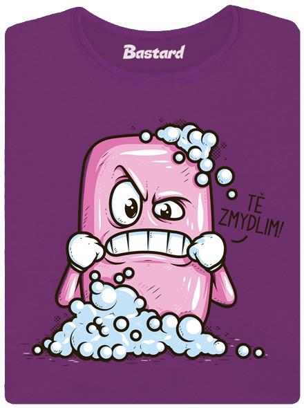 Naštvané mýdlo chce někoho zmydlit - fialové dámské tričko
