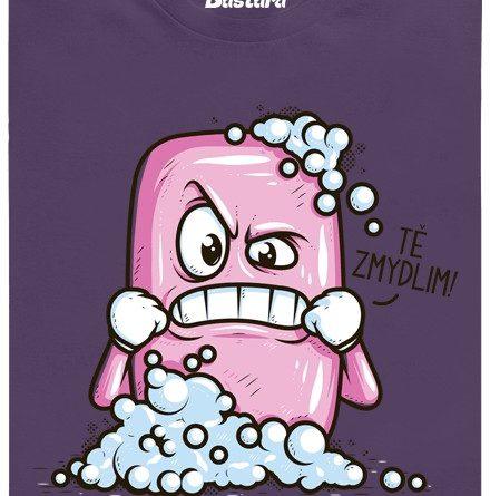 Tě zmydlim - fialové pánské tričko