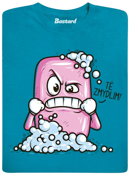 Mýdlo tě zmydlí - modré pánské tričko