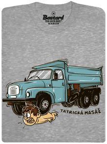 Tatrická masáž pro fajnšmekry - šedé pánské tričko