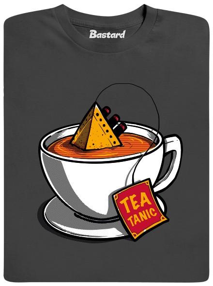 Teatanic - čajový titanic - šedé pánské tričko