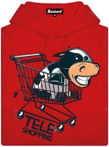 Teleshopping- nakupující tele v košíku - dámská mikina