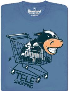 Tele nakupuje - modré pánské tričko