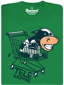 Teleshopping - zelené pánské tričko