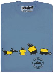 Jak vypadá tričko testované na zvířatech? Vtipně!