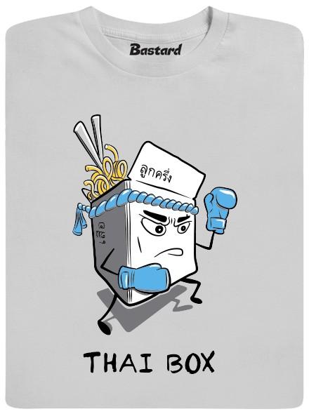 Thai box - šedé pánské tričko