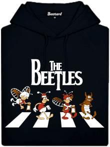 Černá pánská mikina s potiskem The Beetles