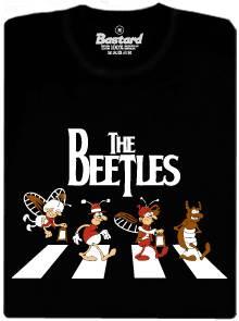 The Beetles - černé pánské tričko s potiskem