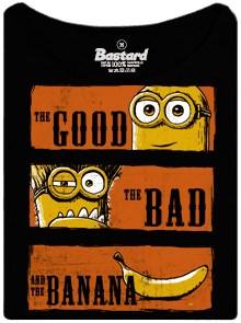 Hodný, zlý a banán - mimoni na dámském tričku s potiskem