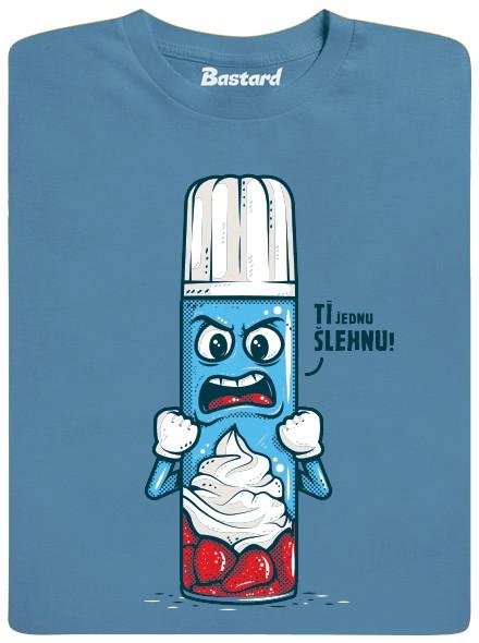 Šlehačka ti jednu šlehne - modré pánské tričko