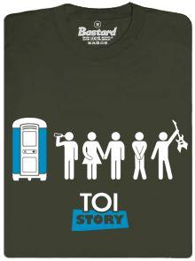 TOI Story - zelené pánské tričko s potiskem