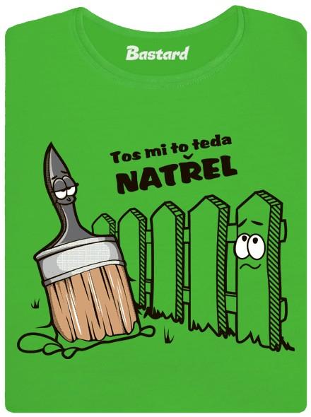 Štětka natřela plot - zelené dámské tričko