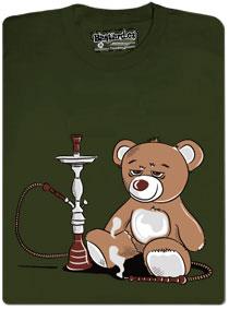 Tričko s potiskem Medvídek sedí u vodnice