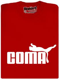 Tričko s potiskem Coma červené