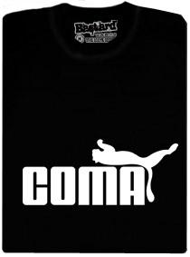 Tričko s potiskem Coma