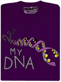 Tričko pivní DNA - fialové