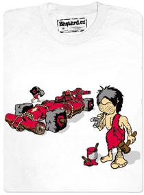 Tričko s potiskem - Pravěká formule a neandrtálec
