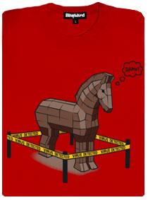 Trojský kůň v pasti