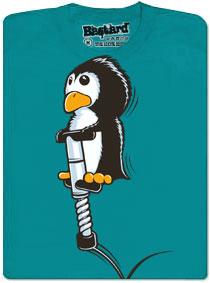Létající tučňák - modré pánské tričko