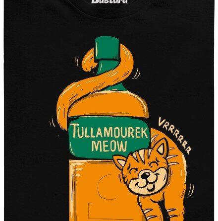 Tullamourek Meow - černé pánské tričko
