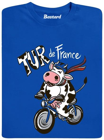 Tur de France - kráva - modré pánské tričko