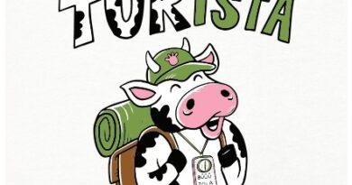 Som turista, turista, turista, turista, turista, T. U. R. I. S. T. A. - bílé dámské tričko