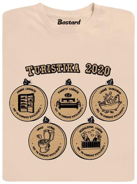 Turistika v roce 2020 - hnědé pánské tričko