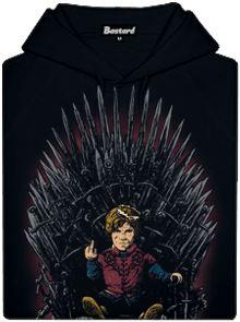 Tyrion na trůnu - černá pánská mikina s potiskem