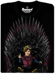 Tyrion na železném trůnu - černé pánské tričko