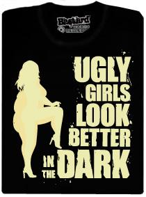 Ugly girls in dark - černé forsoreskující pánské tričko