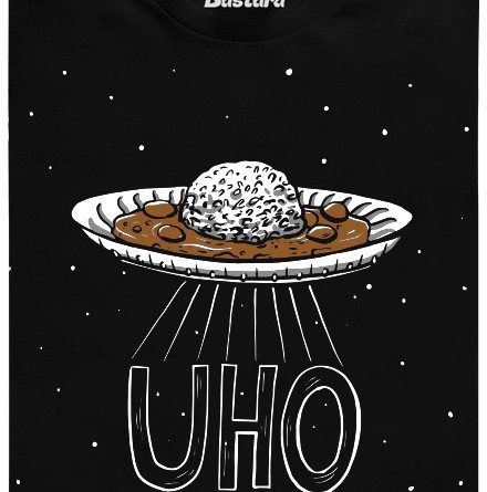 UHO - Univerzální Hnědá Omáčka - černé pánské tričko
