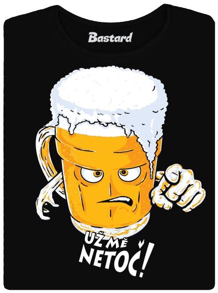 Pozor ať to pivo nevypění - černé dámské tričko