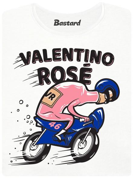 Růžové víno s helmou na motorce - bílé dámské tričko
