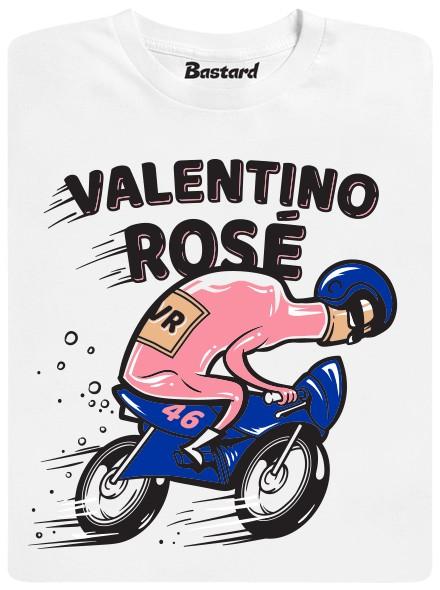 Valentino Rosé - bílé pánské tričko
