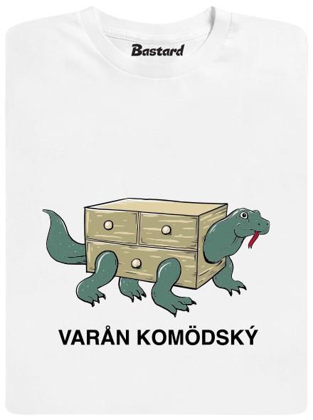 Varan Komodský - bílé pánské tričko