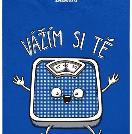 Jako tvoje váha si tě vážím - modré pánské tričko