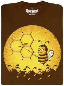 Včelí univerzita - hnědé pánské tričko s potiskem