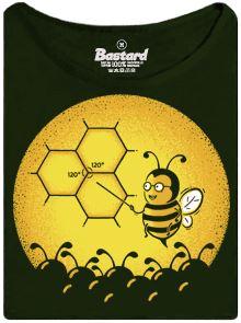 Profesor ve škole vykládá včelám jak postavit plástev - dámské tričko