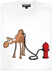 Velbloud a hydrant - bílé dámské tričko