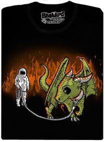 Venčení draka v nehořlavém azbestovém obleku - tričko s potiskem