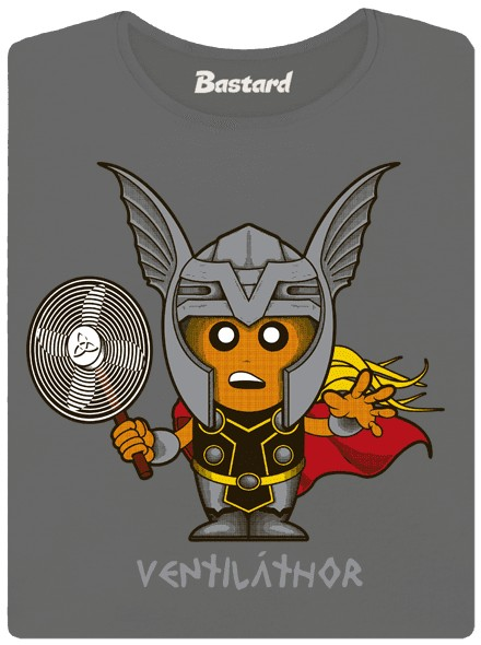 Thor s ventilátorem - šedé dámské tričko