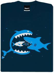 Tričko Větší ryby žerou menší