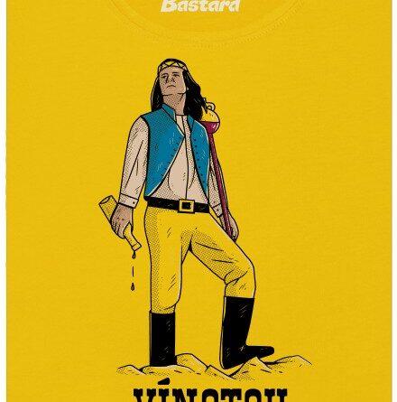 Vínotou - poslední sklizeň - žluté dámské tričko