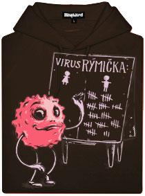 Virus Rýmička - hnědá dámská mikina